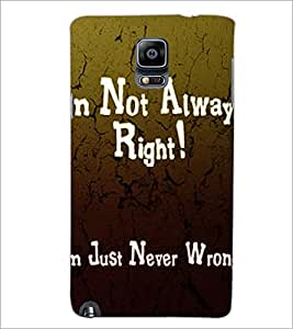 PrintDhaba Quote D-2876 Back Case Cover for SAMSUNG GALAXY NOTE 3 (Multi-Coloured)