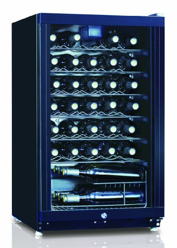 Equator Wr 144-35 3.8 Cu.Ft / 35 Bottles Wine Cooler In Black With Glass Door, Single Zone With Mechanical Control, Maintaining Optimum Temperature And Humidity For Wine, Slide-Out Shelf, Reversible Door, Safety See-Through Door, Pocket Handle, Automatic front-88615