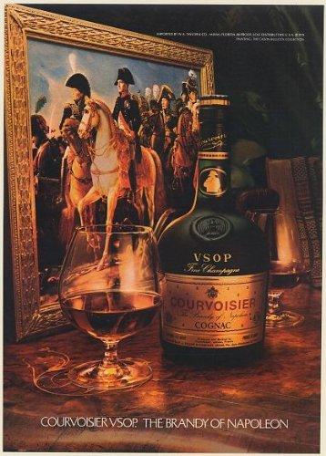 1980-courvoisier-vsop-the-brandy-of-napoleon-painting-bottle-glass-print-ad-memorabilia-57915