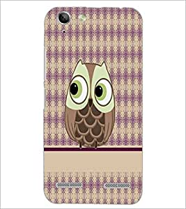 PrintDhaba Owl D-4291 Back Case Cover for LENOVO A6020a46 (Multi-Coloured)