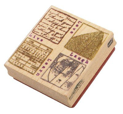 Nostalgiques, The Attic Collection by Rebecca Sower Rubber Stamp - Live, Love, Laugh, Learn - 1