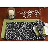 Split P 5 Piece Table Linen Decorative Place Setting, Scrollwork &