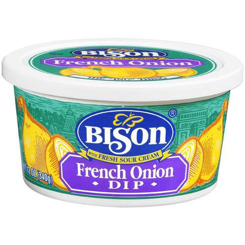 Buffalo's Own Bison Brand French Onion Chip Dip with Fresh Sour Cream ...
