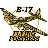 B-17 Flying Fortress Airplane Pin 1 1/2""