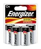 Energizer Max Alkaline C Battery, 4-Count
