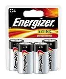 Energizer Max Alkaline C Battery, 4-Count