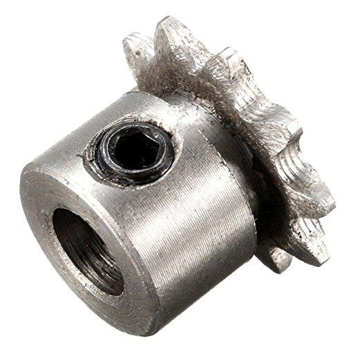 SaySure - 8mm 10T Bore 10 Teeth Metal Pilot Motor Gear Roller