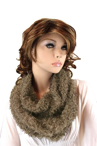 Fashion Dimensions Infinity Eskimo Scarf In Dark Grey