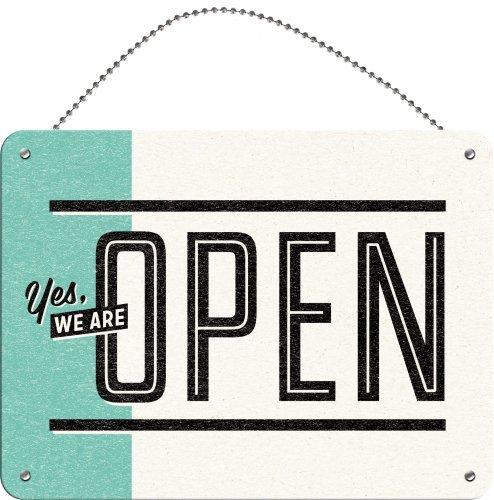 Nostalgic-art-attenzione Open/Closed (Double-Sided W. Chain)-Targa in 15x 20cm