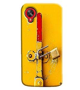 Blue Throat Old Lock Printed Designer Back Cover/ Case For LG Google Nexus 5