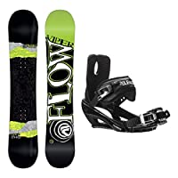 Flow Viper Stealth 3 Snowboard and Binding Package by Flow