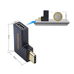 90 Degree Right & Left Angled Usb Type C 3.1 Type-c Male To Female Extension Connector Adapter For Galaxy S8 S8 Plus Cell Phone Back To Search Resultscomputer & Office