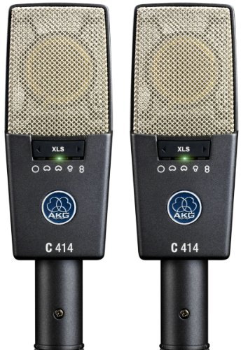 Akg Pro Audio C414 Xls Stereoset Instrument Condenser Microphone, Multipattern