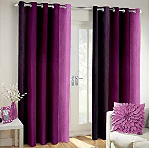 Buy curtain set of 2 printed eyelet polyester living room window curtain size width x length - Amazon curtains living room ...