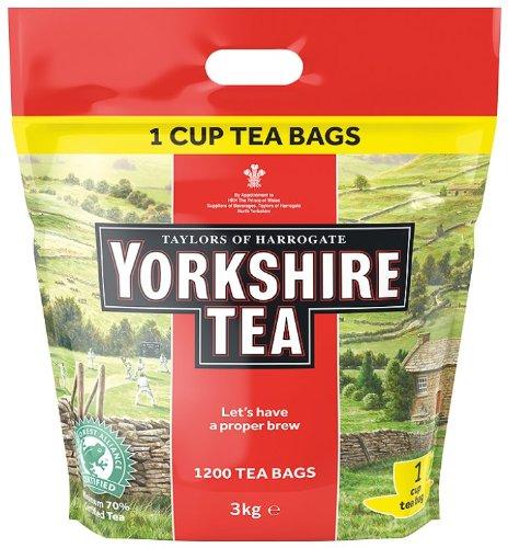 Taylors of Harrogate Yorkshire Tea Bags 1200 Catering Bulk Pack