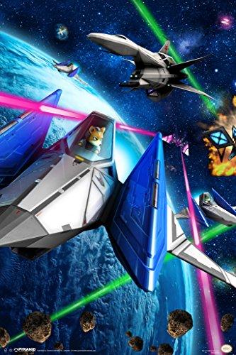 Star Fox Space Battle Fox McCloud Arwing Super Nintendo 64 3DS Video Game Poster - 12x18