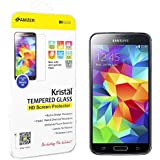 Amzer 96872 Kristal Tempered Glass HD Screen Protector for Samsung GALAXY S5 SM-G900