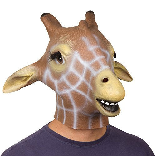 Giant Animal Masks by Allures & Illusions - Giraffe Head Mask