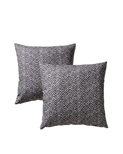 Colorfly by Belle Masion Set of 2 Citizen Pillows, Charcoal