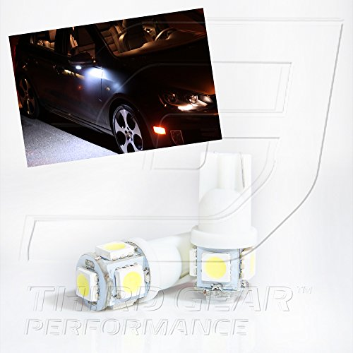 Tgp T10 White 5 Led Smd Wedge 5050 Under Puddle Light Bulbs Pair 2011 Ford F-150
