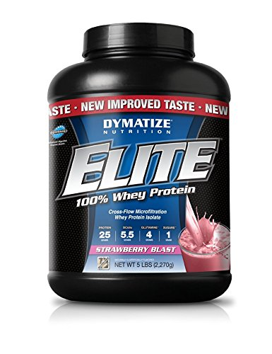 Dymatize Nutrition Elite Whey - 5 lb Strawberry Blast