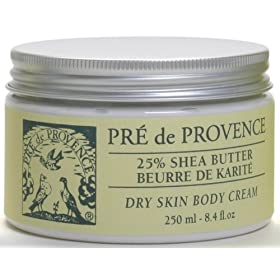 Pre de Provence 25% Shea Butter Body Cream, Natural, 8.4 -Ounce Tub