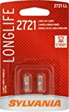SYLVANIA 2721 Long Life Miniature Bulb, (Pack of 2)