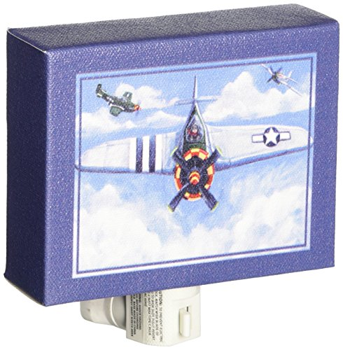 "Oopsy Daisy Ways To Wheel Airplane Night Light, Aqua, 5"" x 4"""