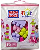 Mega Bloks First Builders Big Building Bag, 60-Piece (Pink)