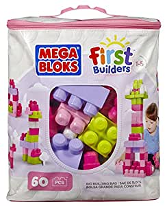 Mega Bloks Pink Buildable Bag (60 Pieces)