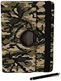 Stuff4 Camouflage Designed Case with 360 Degree Rotating Swivel Action and Screen Protector/Stylus Touch Pen for 10.1 inch Samsung Galaxy Tab Pro T520/T525