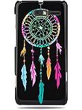 """GRÜV Case - Trés Chic! - Design """"Pièger à Rêves des Indiens d'Amérique"""" - Impression de Haute Qualité sur Coque Rigide Noir - pour Motorola RAZR i XT890"""