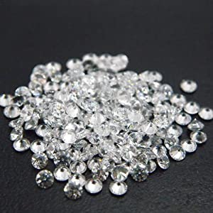Round 1mm AAAAA Cubic Zirconia White CZ Stone Lot of 25 Pieces