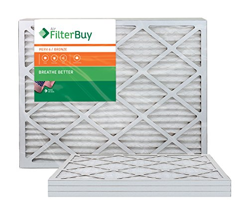 AFB Bronze MERV 6 8x30x1 Pleated AC Furnace Air Filter. Pack of 4 Filters. 100% produced in the USA.