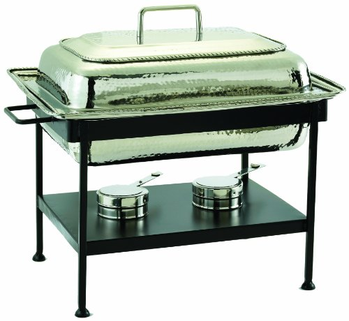 Old Dutch 21 Inch x 16 Inch x 19 Inch Round Stainless Steel Chafing Dish