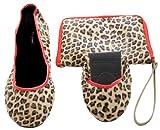 Tipsyfeet Leopard Print Foldable Flat Ballet Shoes