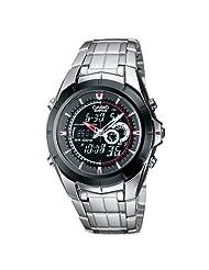 Casio Edifice Analog-Digital Black Dial Men's Watch EFA-119BK-1AVDR