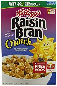 Raisin Bran Crunch Cereal, 18.2 -Ounce Boxes (Pack of 3)