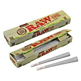 Raw Threads RAW Organic Unrefined Pre-Rolled Cone 32 Pack (King Size) (Color: 1 Pack - 32 Count, Tamaño: King Size)