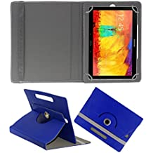 Acm Rotating 360° Leather Flip Case For Samsung Galaxy Note 10.1 P6010 Tablet Cover Stand Dark Blue
