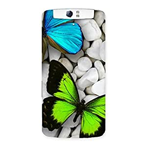 Cute Premier Butterflies Multicolor Back Case Cover for Oppo N1