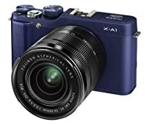Fujifilm X-A1 Kit with 16-50mm Lens (Blue)