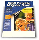 Magnetic Printable Sheets, Gloss, Inkjet Ready, Make Your Own Personalized Magnet! (Pkg/5)