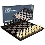 2 in 1 Travel Magnetic Chess and Checkers Set - 12.5