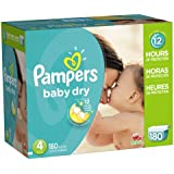 Pampers Baby Dry Economy Pack Plus, Size 4, 180 Count