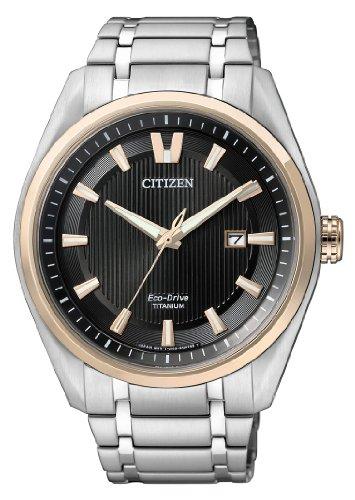 Citizen Super Titanium AW1244-56E - Orologio da polso da uomo, cinturino in titanio colore argento