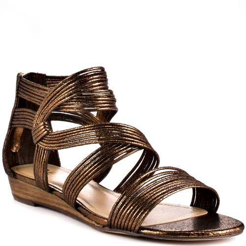 Bronze Wedge Sandals front-1029407