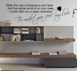 adele make you feel my love lyrics wall sticker bedroom