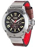 Detomaso PANARO Solar Braun/Silber Trend DT1054-A - Reloj analógico de cuarzo para hombre, correa de cuero color marrón (solar, agujas luminiscentes)