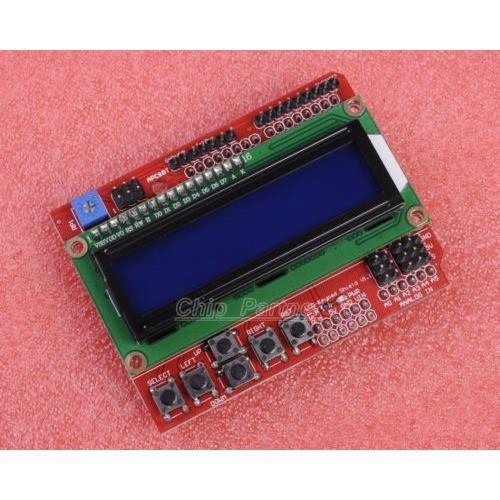 Heartsea Technologylcd Keypad Shield Blue Backlight Lcd1602 For Arduino